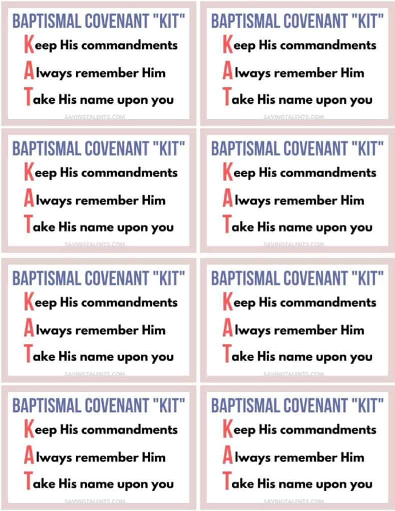 baptism covenant kit