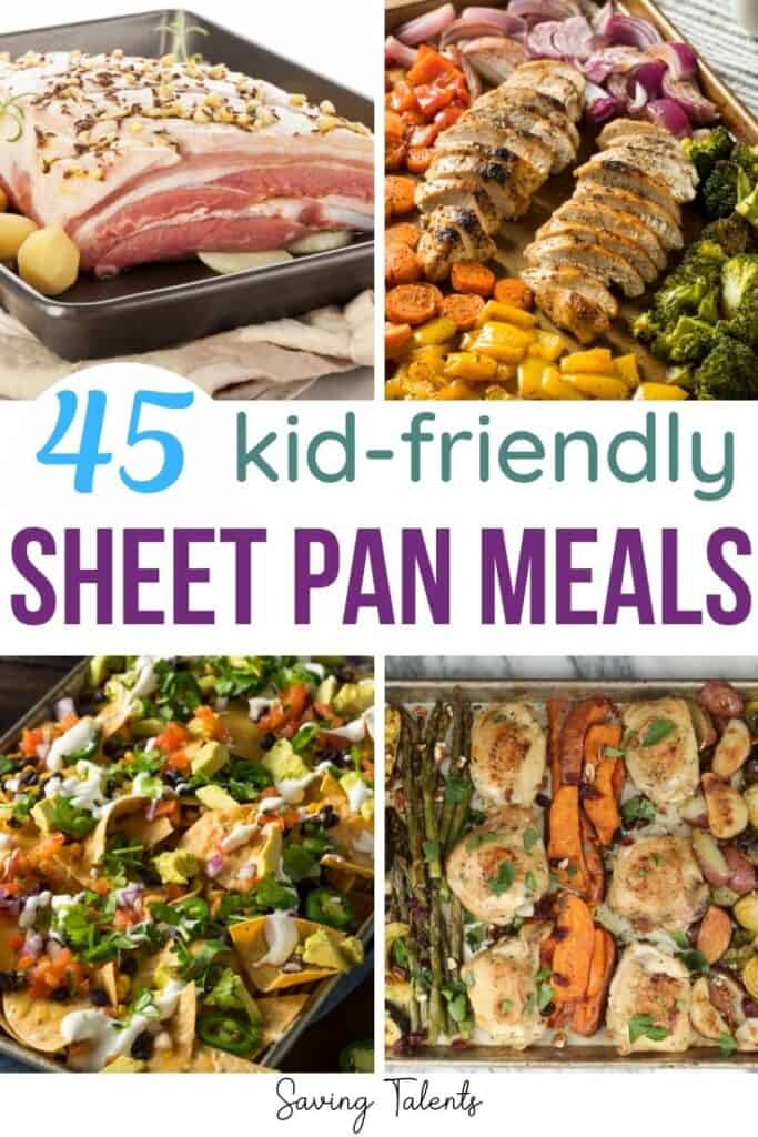 pin for sheet pan meals for easy dinners