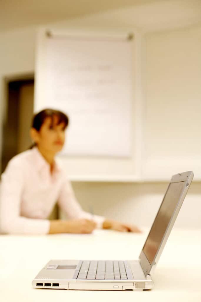 work life balance - woman away from laptop