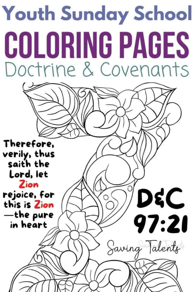 youth sunday school coloring pages